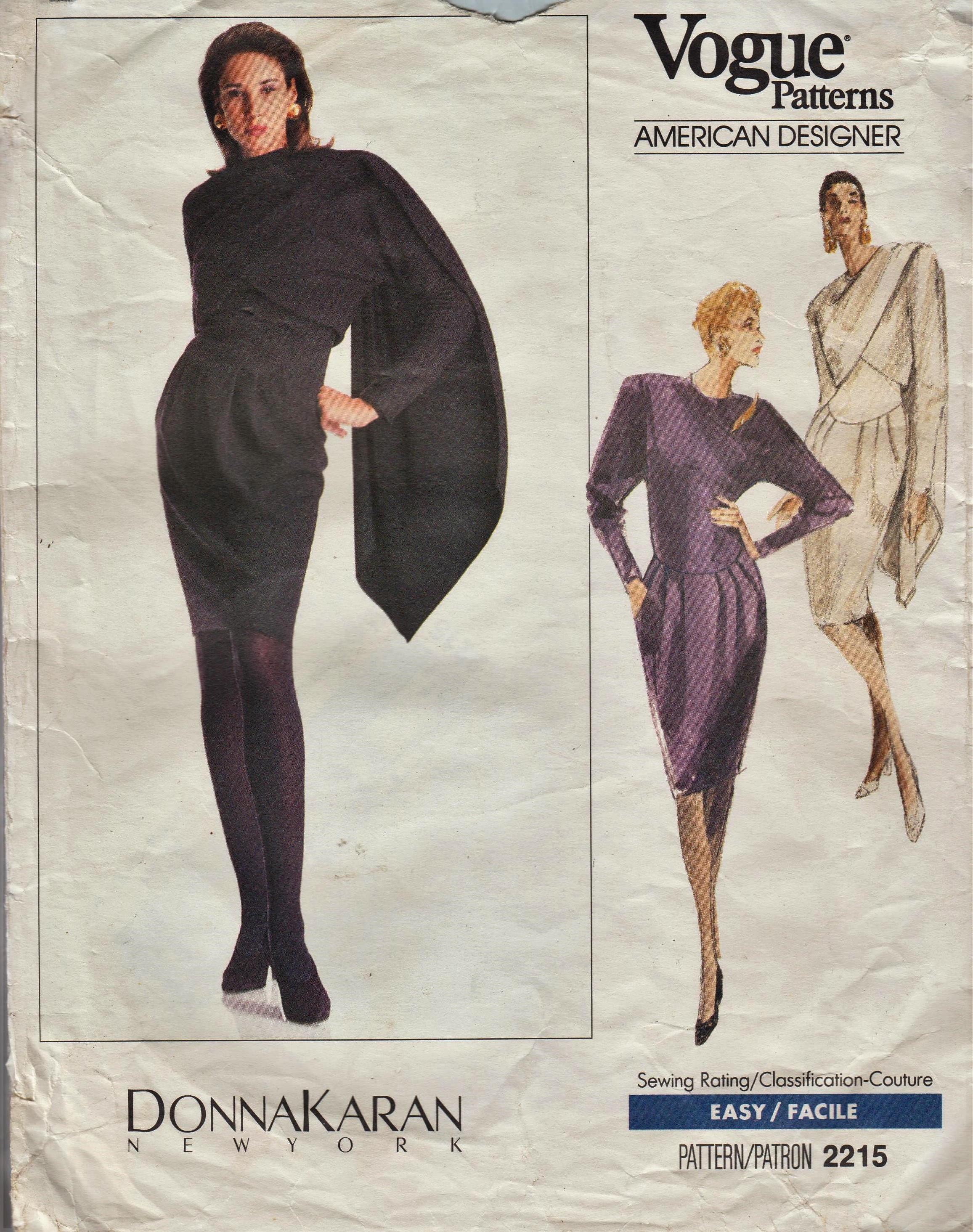 Mode 2215 / Vintage Designer Schnittmuster von Donna Karan /