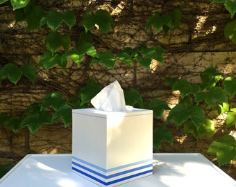 Pier Stripe Tissue Box