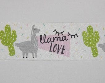 Washi Tape Samples, Washi Tape Sample, Llama Love Washi Tape, Llama Washi Tape, Planner Accessories, Scrapbook Supplies, Craft Supplies