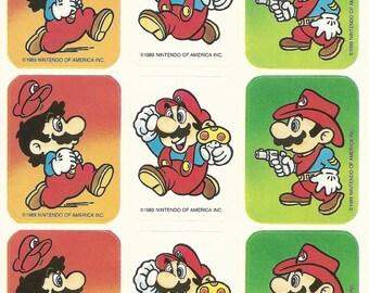 Vintage 80s Super Mario Brothers Sticker Sheet (Version 1)