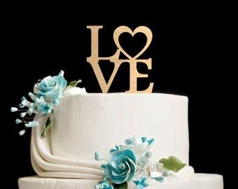 Love cake topper,Wedding Cake Topper,Cake Toppers For Wedding,gold cake topper,rustic cake topper,cake topper,cake topper wedding,628