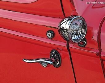 Classic Cars, Red Mancave Prints, Vintage Car Photography, Antique Car Prints, Hotrod Photos, Garage Prints, Car Photography, Car Art, Red