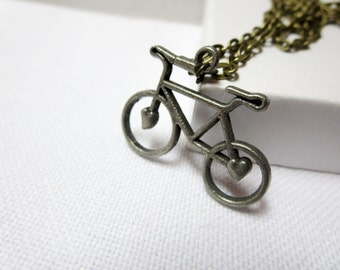 SALE   Bicycle Pendant Necklace -  bike  Pendant  Gift For Her Under 20