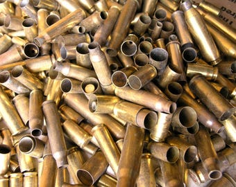 3.5 lbs spent bullet casings bullet shells casings empty brass ammo jewelry supply steampunk craft military altered Art Mixed Media Destash