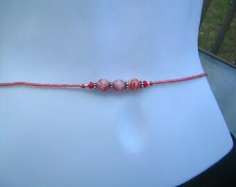 beaded belly chain waist beads.