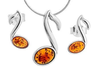 925 silver melody-amber melody jewelry-silver melody jewelry-melody jewelry set-243