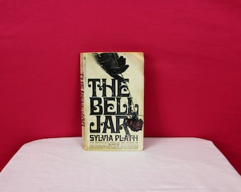 The Bell Jar By Sylvia Plath. 1972 Paperback Edition. Classic Female Author Heartbreaking Novel. Vintage Paperback Sylvia Plath Book