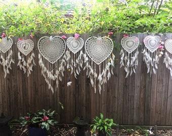 Loveheart bohowedding dreamcatchers