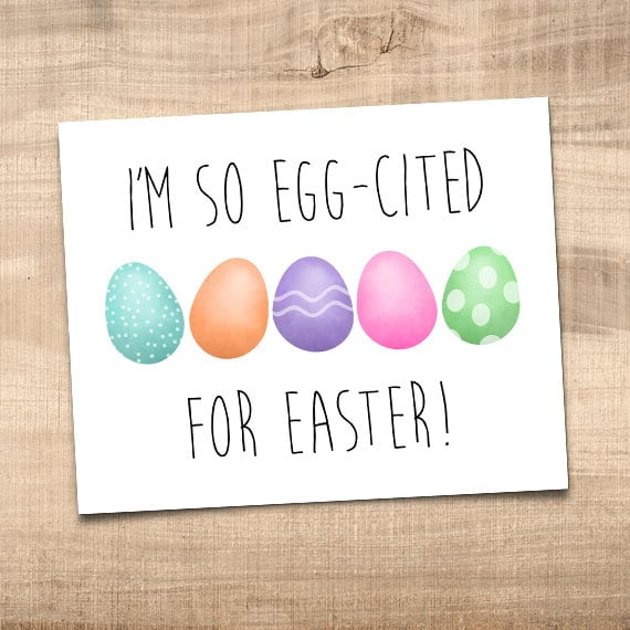 Im so egg cited for easter funny digital 8x10 printable zoom negle Image collections