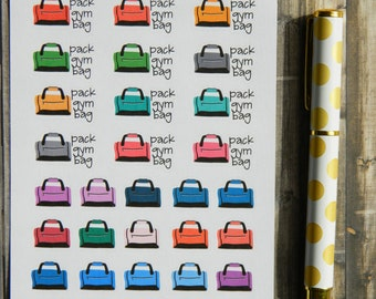 Gym Bag Sticker Sheet for Planners (A-062)