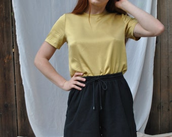 Gold silk blouse