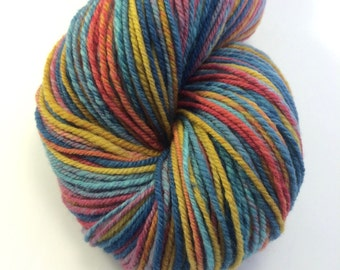 "Handspun Sport Yarn ""Garden Party"" Targhee 300 yards"