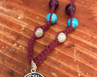 Aquarius Hemp Crystal Necklace