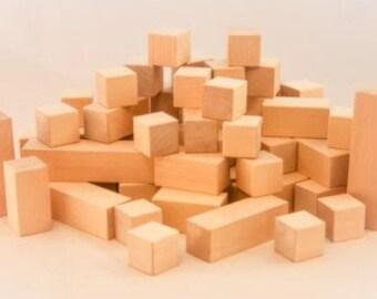 Uncle Hannes'es natural wooden toy blocks
