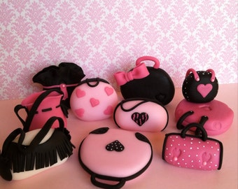 Set of Barbie purses