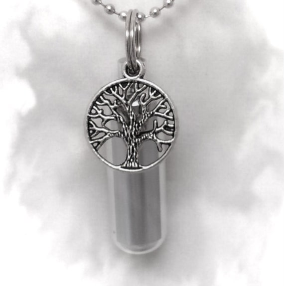 Tree-Of-Life Personal CREMATION URN Keepsake with Velvet Pouch & Fill Kit