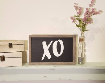 XO Painted Wood Sign, Wall Decor, Inspirational Wall Art