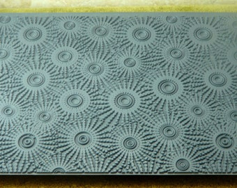 Mega SUNSPOTS SUN SPOTS Embosses Ceramic, Polymer, Metal Clay and Inks Texture Tile Rubber Stamp  MGT210