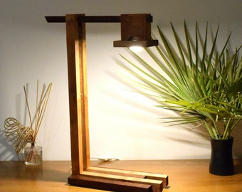 RIVELLO Lamp in tinted Oak and natural Sycamore