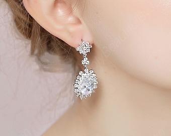 Beautiful bridal jewelry wedding earrings snowflake