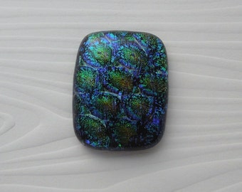 Dichroic Fused Glass Cabochon - Gem Stone - Cabochon Cab - Bead Supply- Glass Bead - Wire  - Jewelry Making - Stained Glass 5691