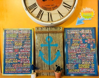 Magnetic Cottage Wall Hanging/Sign Puzzles | Canada | Muskoka | Cabins | Coffeetable