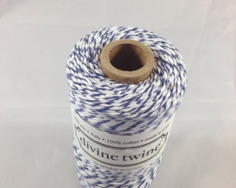 Bakers Twine - Divine Twine - Original Twist - 100% Cotton -  ONE Color - Blueberry Shown - Your Choice of Color and Length