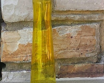 Linden: 9 inch yellow tall cylinder vases.