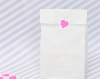 Tall White Paper Bags for Wedding Favours, Children's Party Bags and Gifts