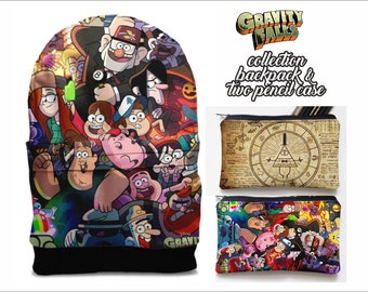 SALE! gravity falls backpack and  and two pencil case