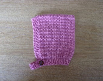 Rose Baby Hand Knitted Pixie Hat Size 1 ~ 6months
