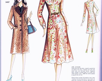 Marfy 3781 Princess Seam Italian Dress Pattern Size 42