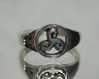 Vintage Sterling Silver Toe Ring Sz 2-4 M573