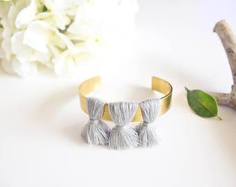 """""""Pinpom"""" grey Bangle Bracelet"""