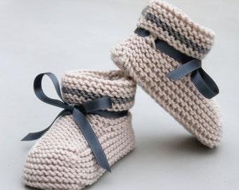 Bimbo Bootie. The finest quality Italian Merino handmade booties for baby boys and girls.