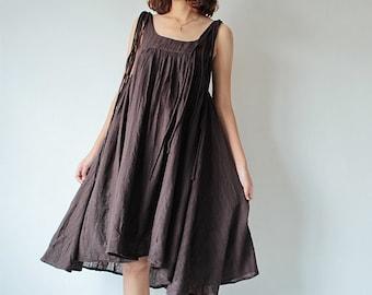 Linen/cotton dress  (fit all size)(1446)