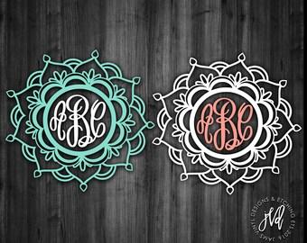Monogram Mandala Decal, Mandala Decal, Monogram Decal, Car Window Decal, Tumbler Decal, Laptop Decal, Monogram Mandala, Custom Decal