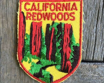 California Redwoods Vintage Travel Souvenir Patch from Voyager - LAST ONE!
