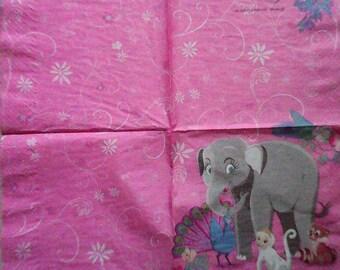 578 Barbie towel paper animals