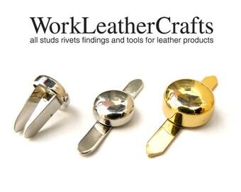 High qaulity 10pcs ZINC curve Round Purse Bags Feet with prongs Decorative item Studs Nailheads