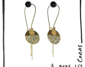 earrings with gold dots