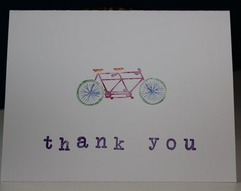 Bicycle thank you cards