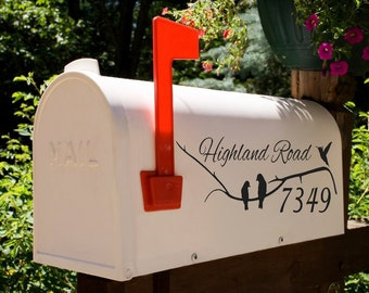 Bending Branch Bird Mailbox Decal