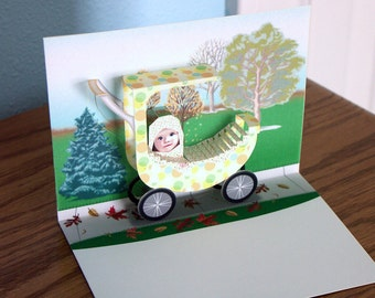 3D Pop up Baby Card Congratulations New Baby Card