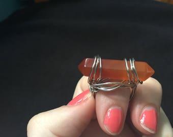 Jasper wire ring