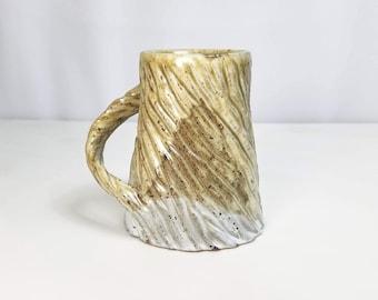 Speckled Ceramic Mug, Carved Mug, Textured Mug, Unique Mug, Small Mug, Handmade Pottery Mug, Small Coffee Mug