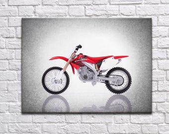 Honda 450 Motorcycle side view print, motorcycle decor, Motorcycle poster, motorcycle prints, Honda motorcycle, man cave decor