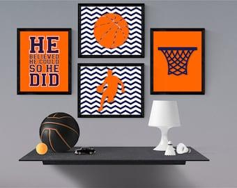 Beautiful Basketball Nursery Decor   Sports Room Decor   Play Room Wall Art    Basketball Bedroom Wall