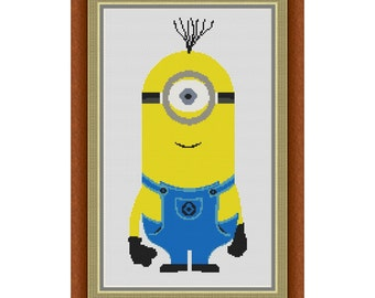 Cross stitch pattern Minion Stuart,Instant download PDF