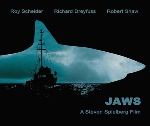 Jaws Minimalist Movie Poster Print Steven Spielberg Home